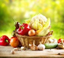 pic of a basket of vegetables for your healthy diet plan