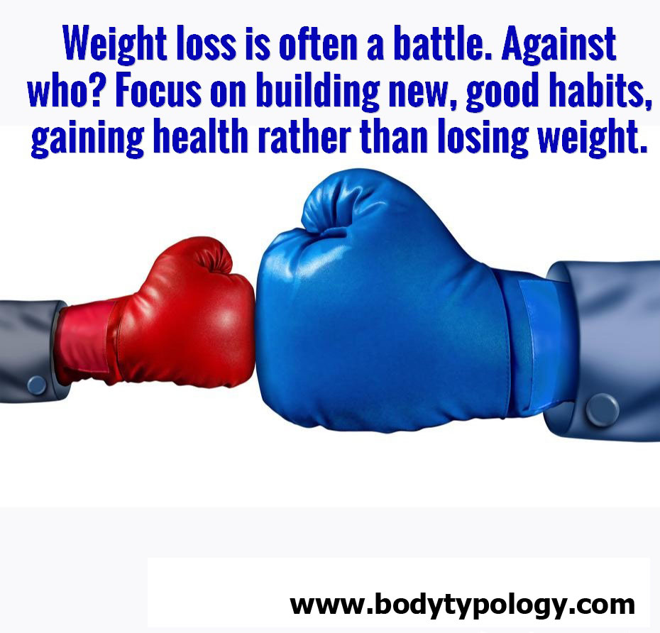 Best weight loss plan showing that weight loss should not be a battle, with 2 boxing gloves