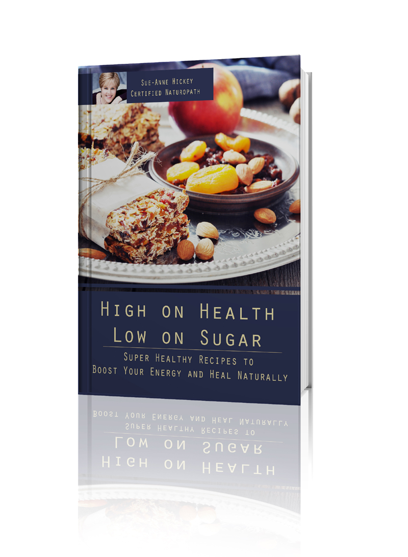 A pic of one of where to get more  healthy snack recipes, the author's cook book