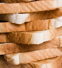 A pic of white bread not low glycemic foods, but how glycemic index is measured