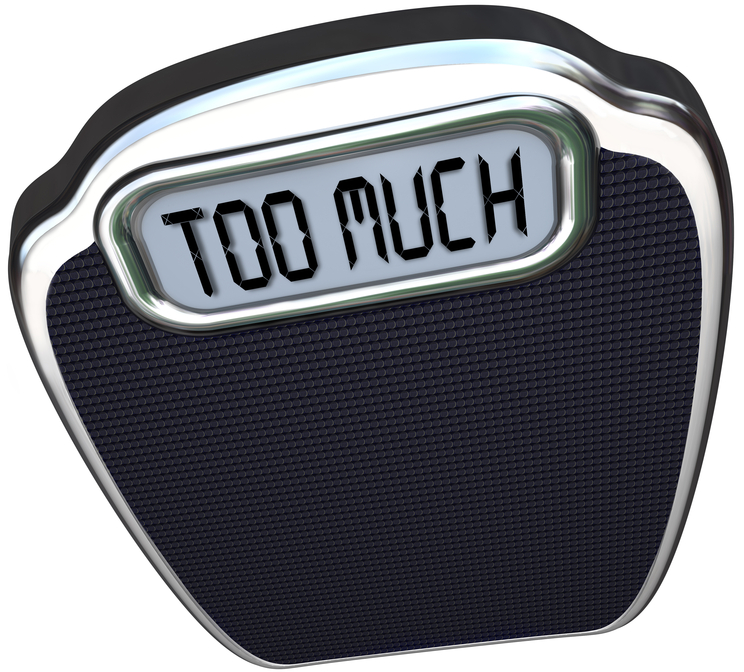 pic of a bathroom scale saying too much, to help you figure out your best weight loss foods