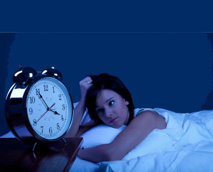 a pic of a woman with insomnia as it is one of the weight gain causes