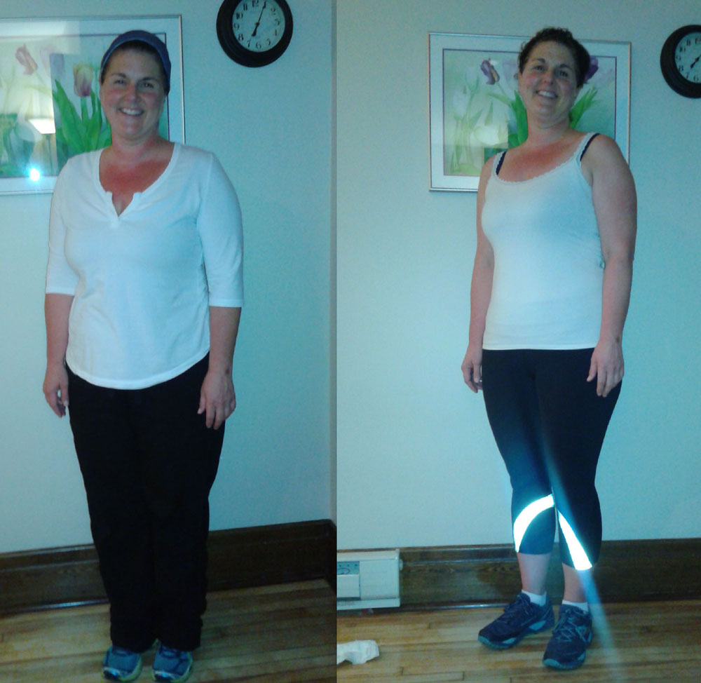 adrenal body type client before and after