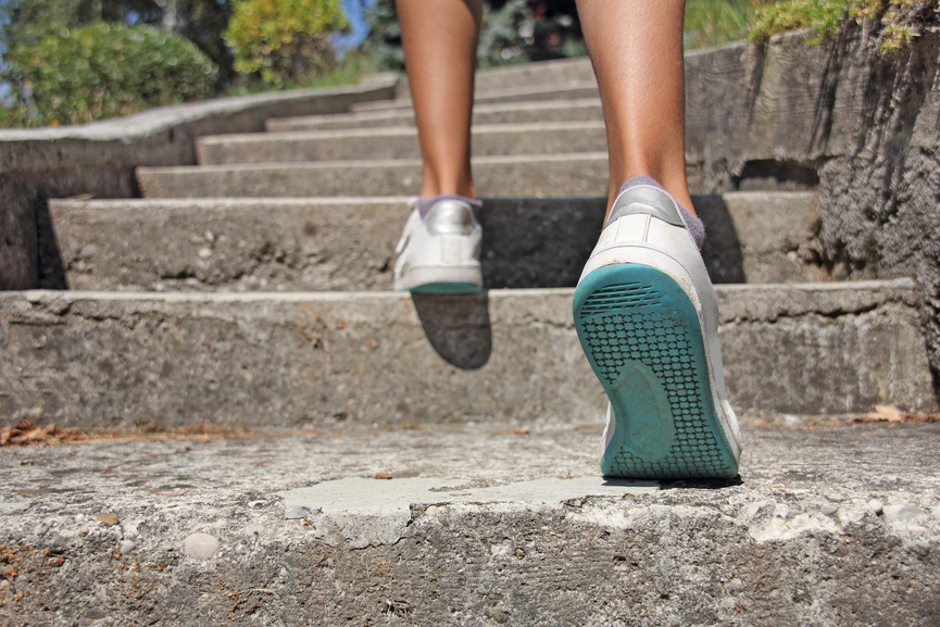 a pic of walking as a sedentary lifestyle is one of the weight gain causes