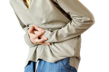 a pic of a stomach pain as a lack of friendly bacteria is one of the weight gain causes