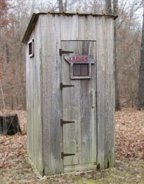 pic of an outhouse for your constipation home remedy
